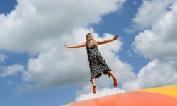 The important role of the trampoline for a child development